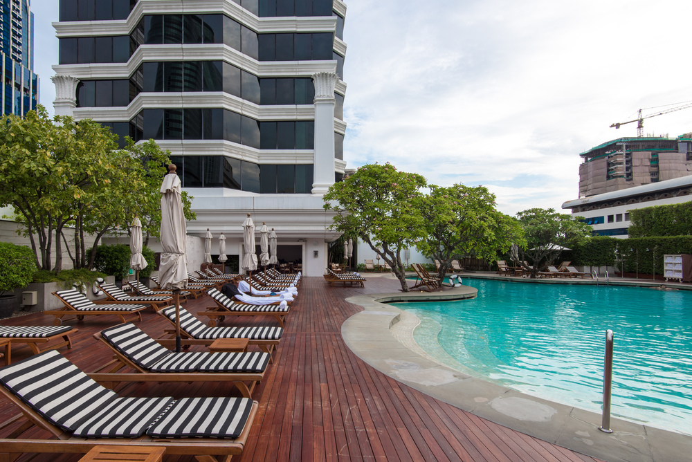 Outdoor Swimming Pool Grand Hyatt Erawan Bangkok