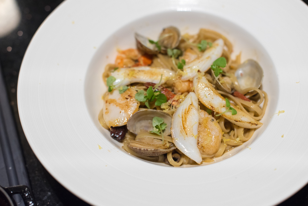 Seafood Linguini  Ash & Elm - InterContinental Singapore