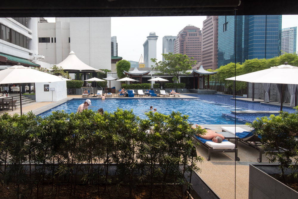 Pool Access - Pool Terrace Room Singapore Marriott Tang Plaza Hotel