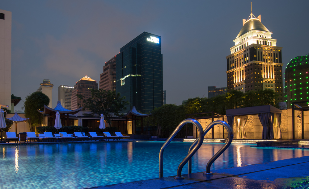 Swimming Pool Singapore Marriott Tang Plaza Hotel