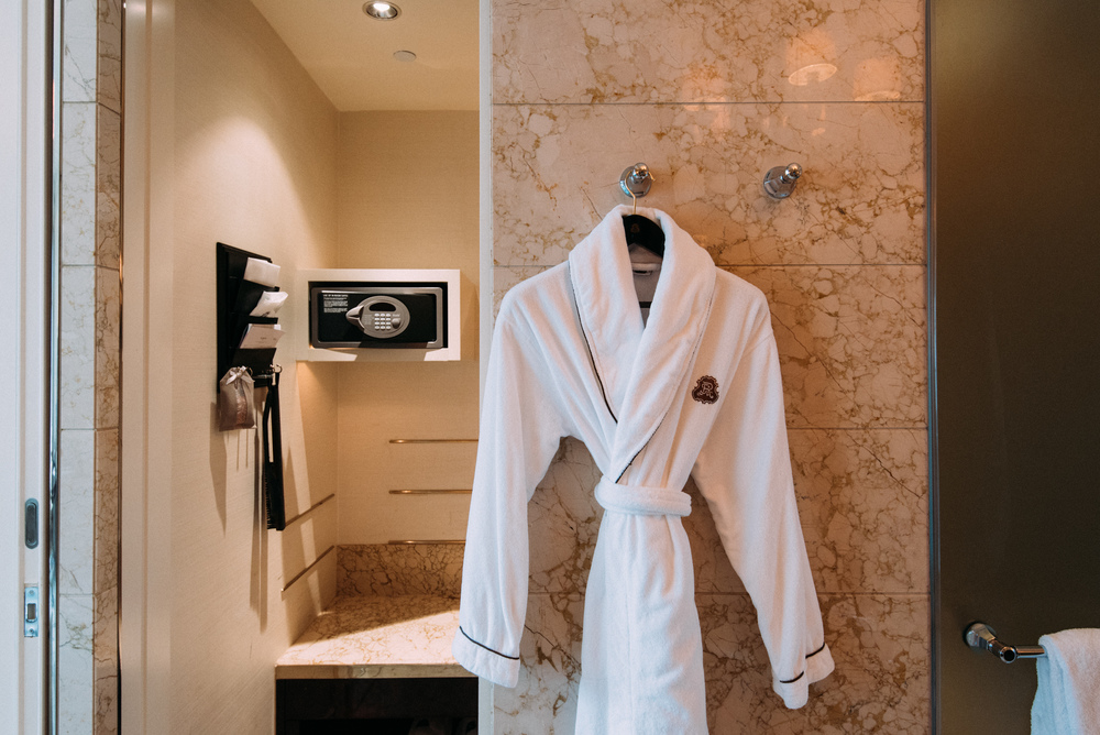 Luxurious Bath Robes - Bathroom  Executive Deluxe Room - The St. Regis Singapore
