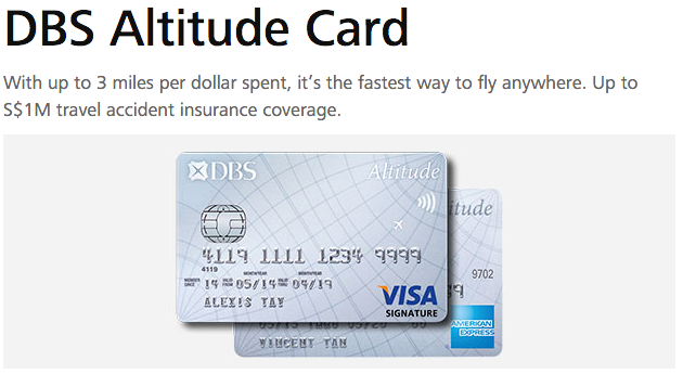 8,000 Bonus Miles with DBS Altitude Visa Signature Credit Card | Photo Credit: DBS