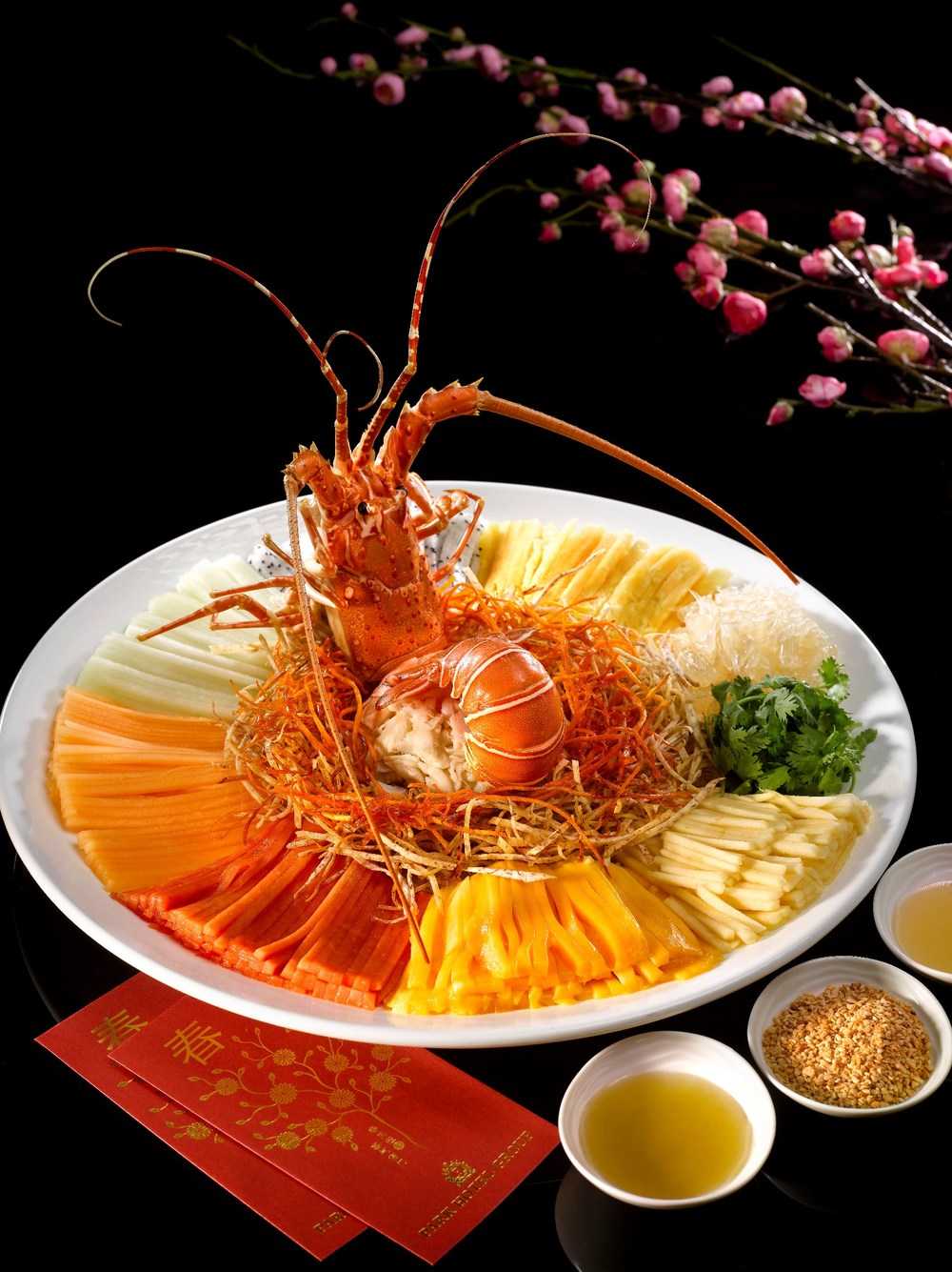 Rainbow Lobster & Crab Meat 'Lo Hei' (from S$68++) | Photo Credit: Park Hotel Clarke Quay