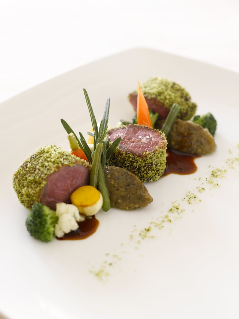 Herb-crusted Lamb Loin | Photo Credit: Mandarin Oriental, Singapore