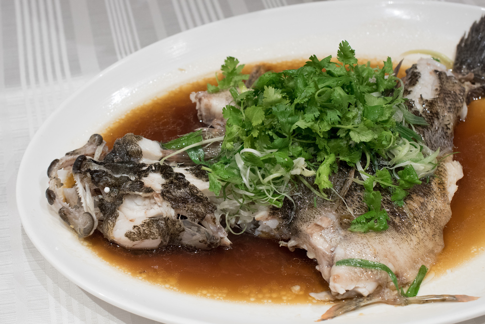 Steamed Soon Hock in Light Soya Sauce   Summer Palace - Regent Singapore