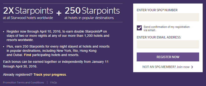 2X Starpoints and up to 10,000 Bonus Starpoints