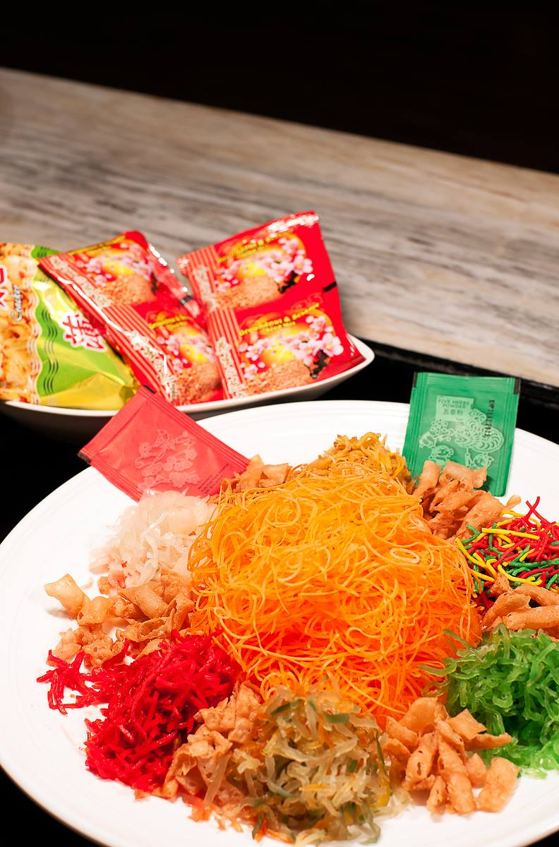DoubleTree Smoked Salmon Yee Sang | Photo Credit: DoubleTree by Hilton Johor Bahru
