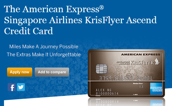 The American Express® Singapore Airlines KrisFlyer Ascend Credit Card | Photo Credit: American Express