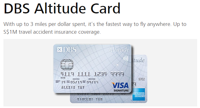 DBS Altitude Visa Signature Card | Photo Credit:   DBS