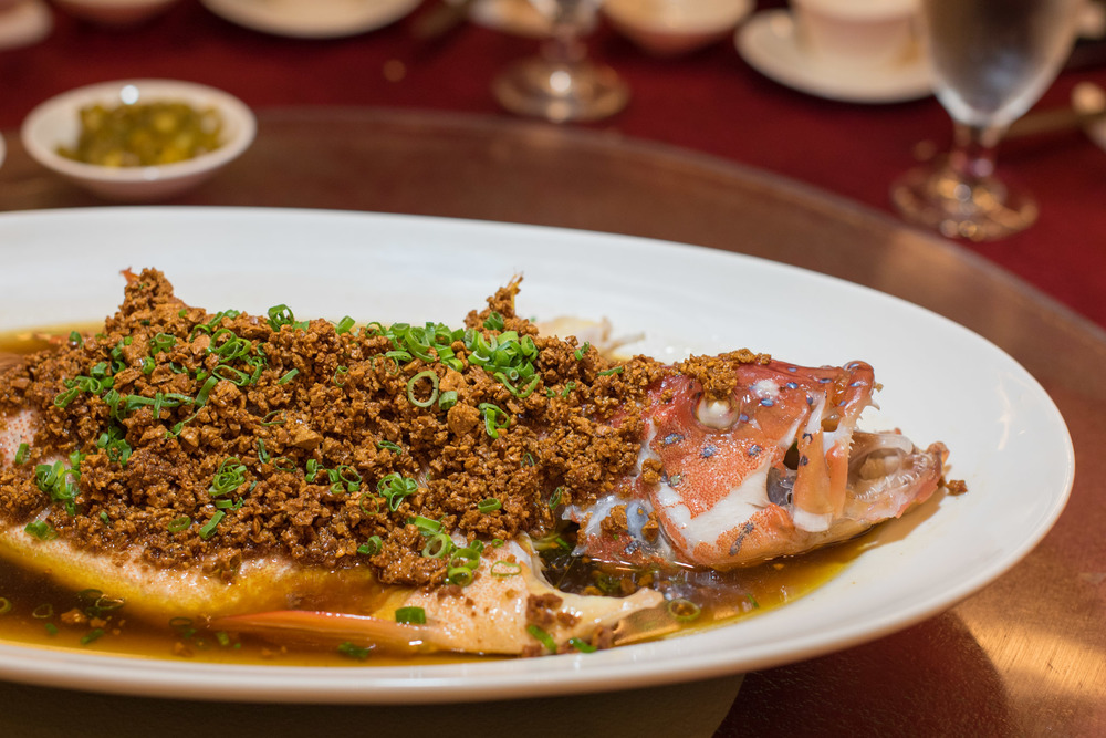 Steamed Red Garoupa in Superior Soya Sauce with Soybean Crumbs Park Hotel Clarke Quay