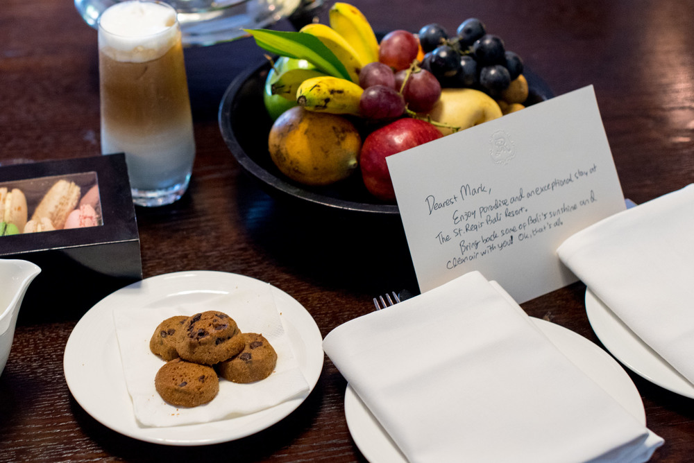 Welcome Amenities - Gardenia Villa The St. Regis Bali Resort