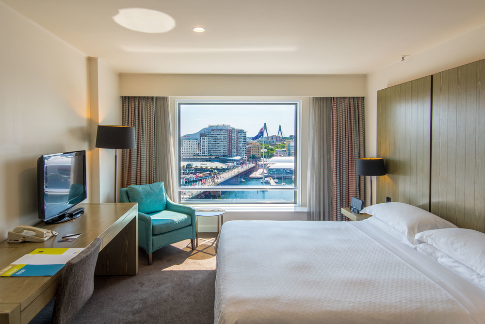Bedroom - Premium Harbour View Room  Four Points by Sheraton Sydney, Darling Harbour