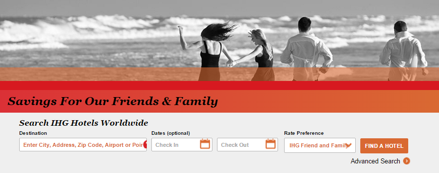 Friends and Family Rate | Photo Credit: InterContinental Hotels Group