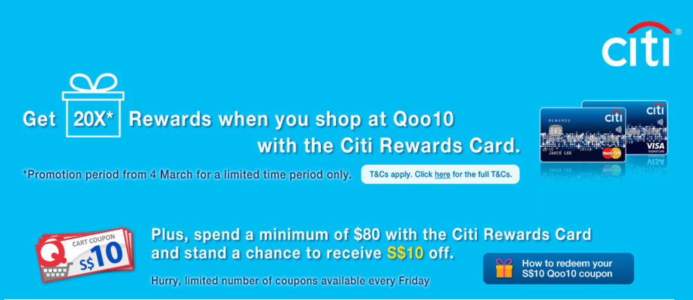 20X Citi Dollars with Qoo10 | Photo Credit: Qoo10