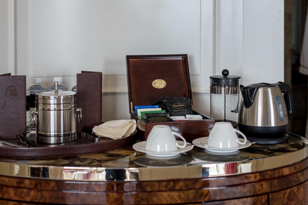 Coffee and Tea-making Facilities  Caroline Astor Suite - The St. Regis Singapore
