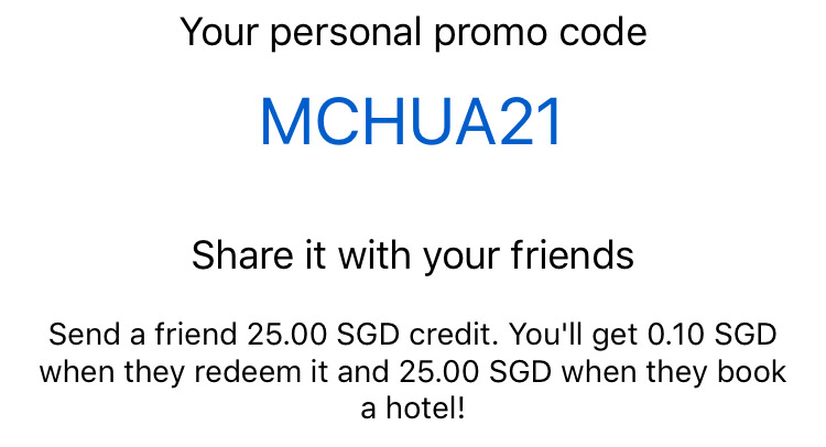 HotelQuickly S$25 Credit with 'MCHUA21'