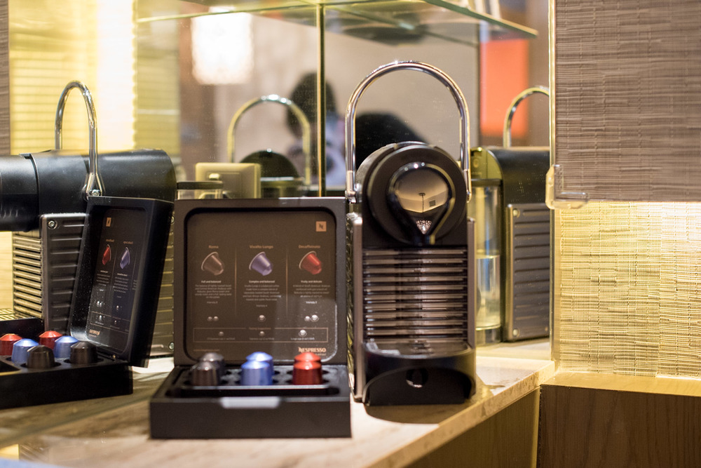 Nespresso Machine    Pacific Harbour Studio - Pan Pacific Singapore