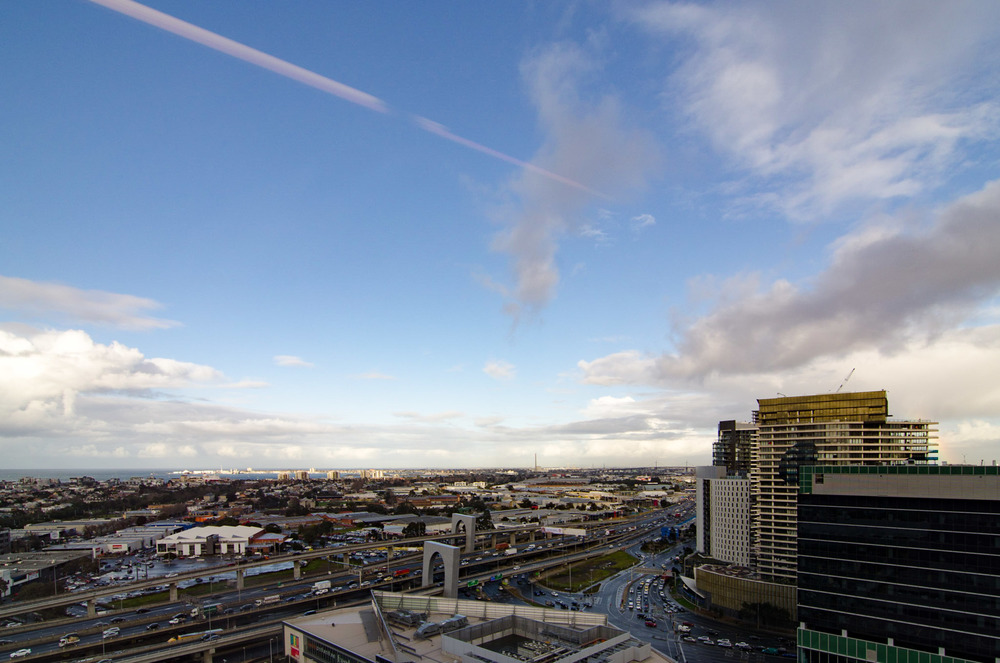 View from the Hilton Melbourne South Wharf