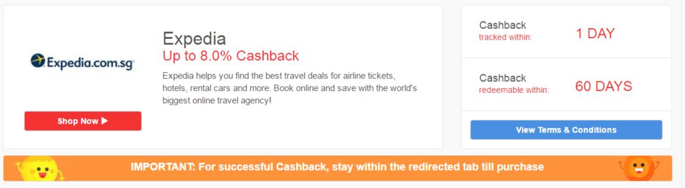 Earn 8.0% Cashback on Hotel Stays!
