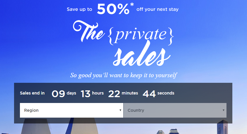 Private Sale of up to 50% Off