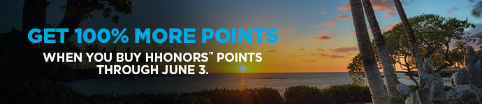 100% Bonus Hilton HHonors Points