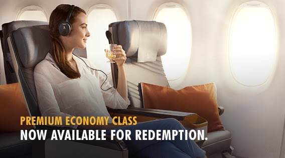 Premium Economy Redemption on SQ | Photo Credit: Singapore Airlines