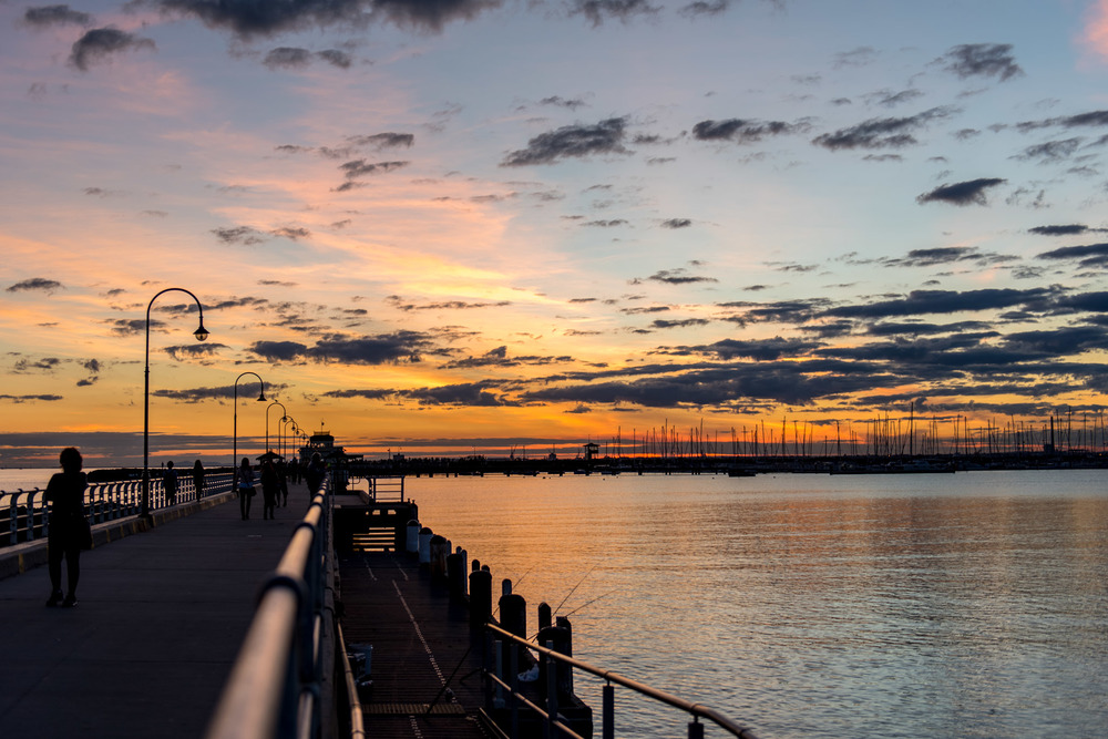 Sunset at St. Kilda (HDR) - Shot on Nikon D750  ISO 100 | f / 3.2 | 1/400 sec
