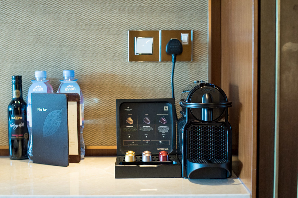 Nespresso Coffee Machine   Garden Wing Deluxe Room - Shangri-La Hotel, Singapore