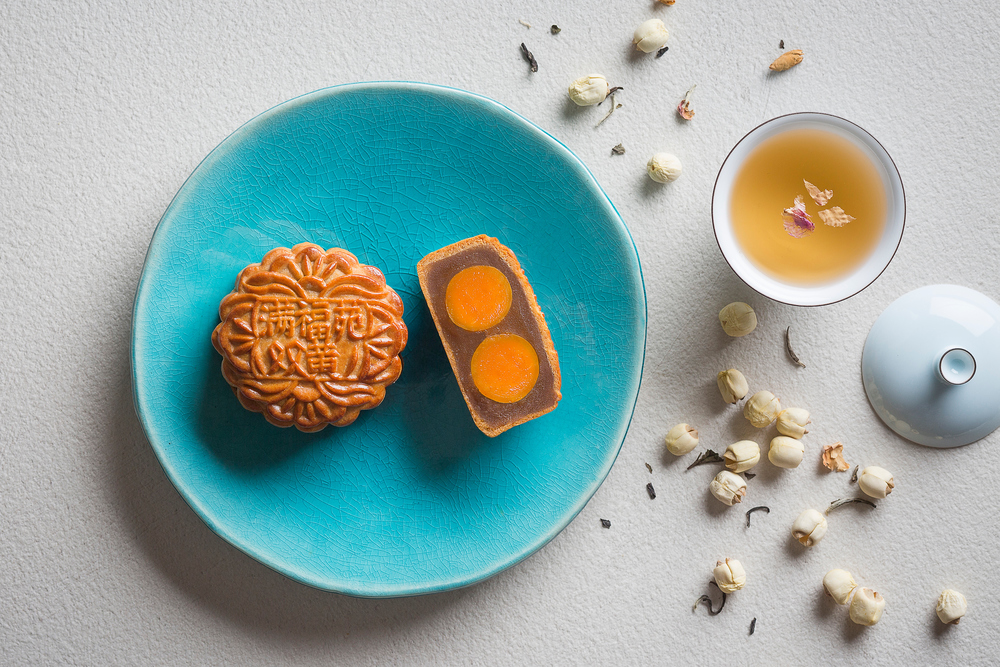 Baked Mooncake with Double Yolks and White Lotus Paste | Photo Credit: InterContinental Singapore