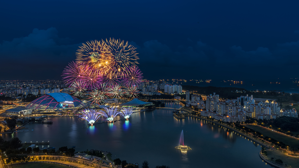 National Day Fireworks View | Photo Credit: Conrad Centennial Singapore