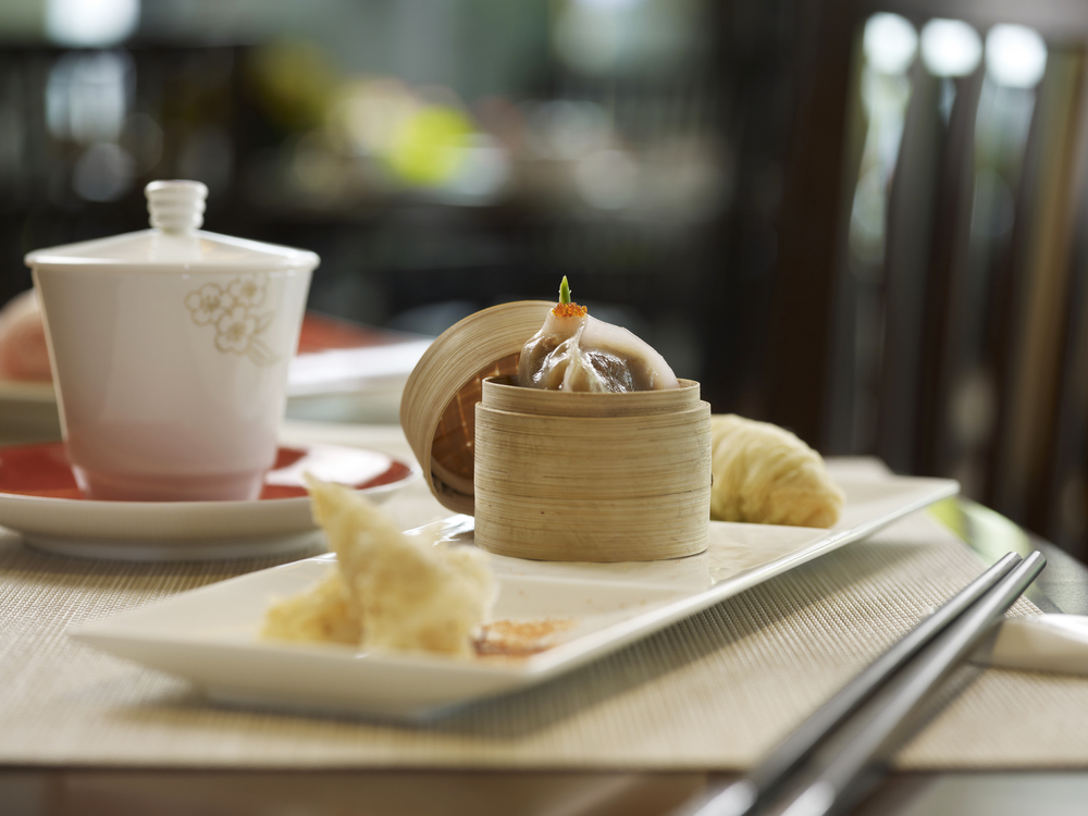 Mixed Dim Sum Platter at Cherry Garden | Photo Credit: Mandarin Oriental, Singapore