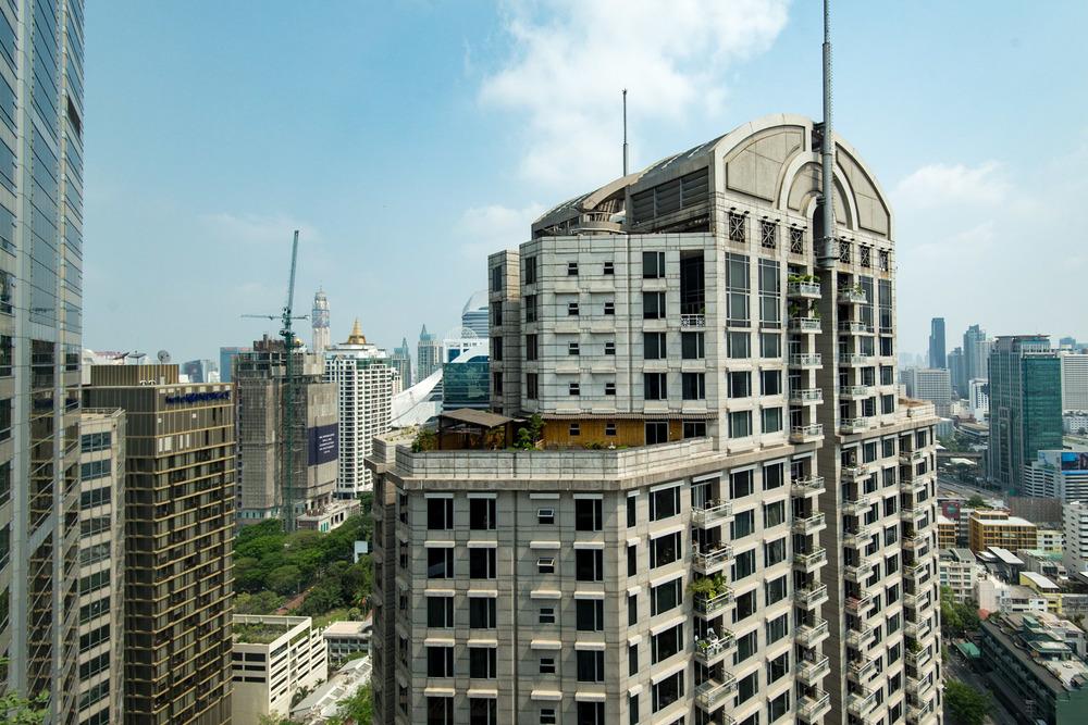 View from Bedroom Executive Suite - Conrad Bangkok