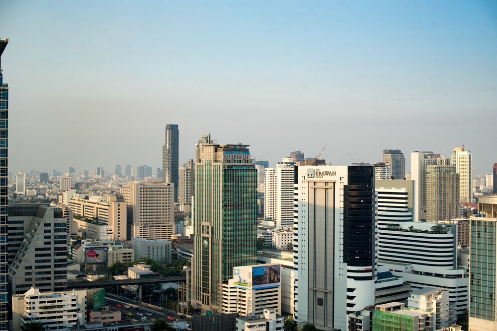 View from the Executive Lounge Conrad Bangkok