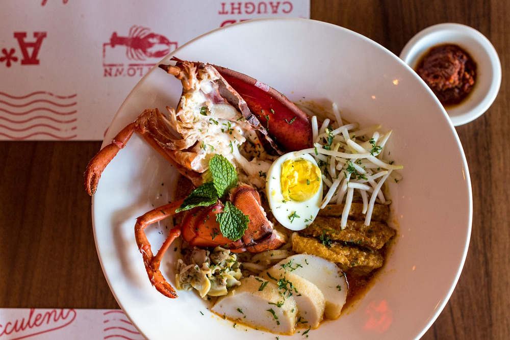 Lobster Laksa (S$29++) Pince & Pints