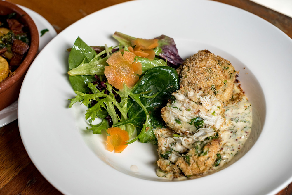Old Fashioned Crab Cakes (S$24++) Saturday Brunch - The Pelican Seafood Bar & Grill