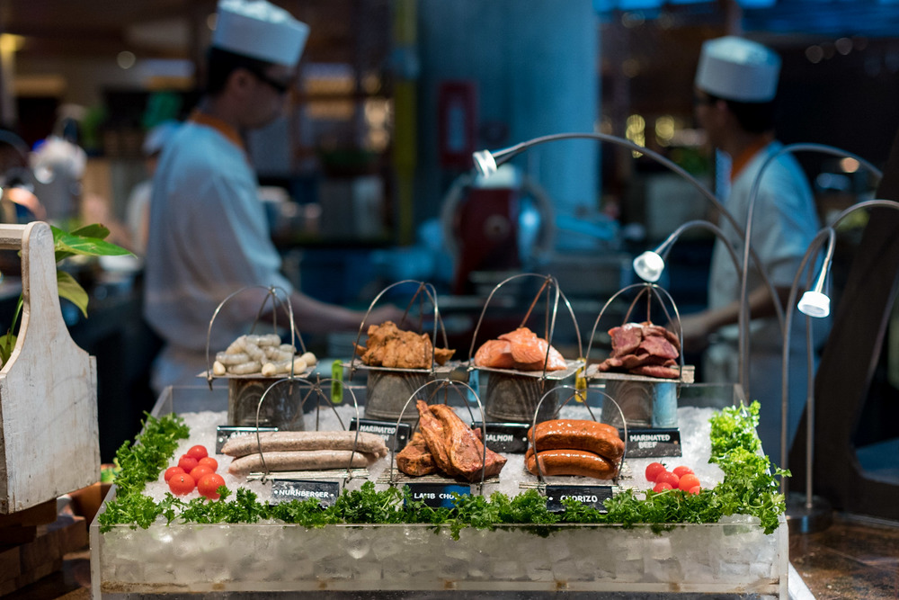 Grill Station     Surf & Turf Dinner Buffet (Tuesdays only) - Pan Pacific Singapore