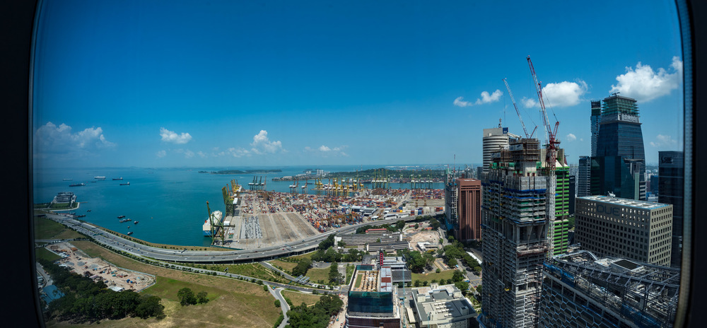 Panoramic View from Premier Room  The Westin Singapore