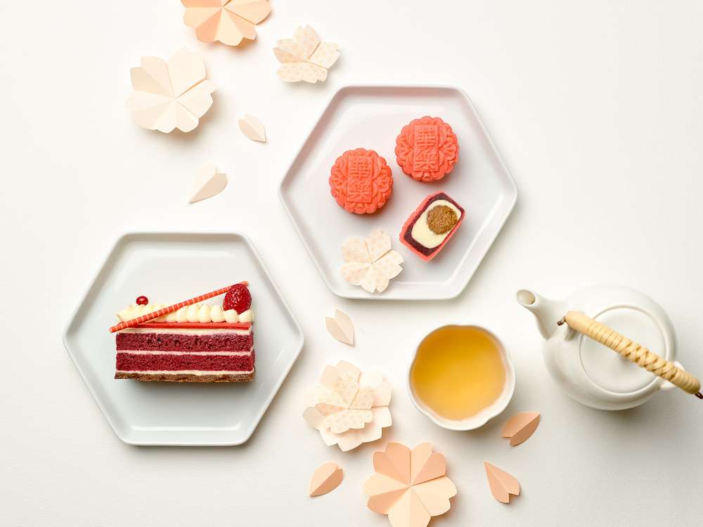 Mini Red Velvet Snowskin Mooncakes (S$63+ for eight) | Photo Credit: Carlton Hotel Singapore