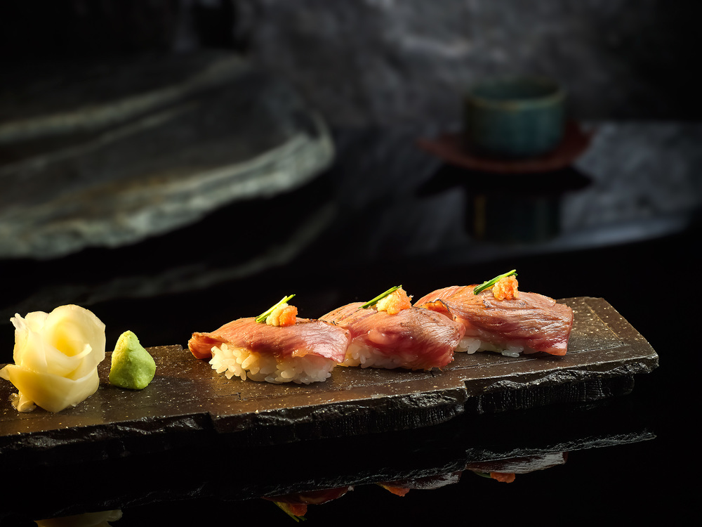 Seared Wagyu Beef Sushi | Photo Credit: Pan Pacific Singapore