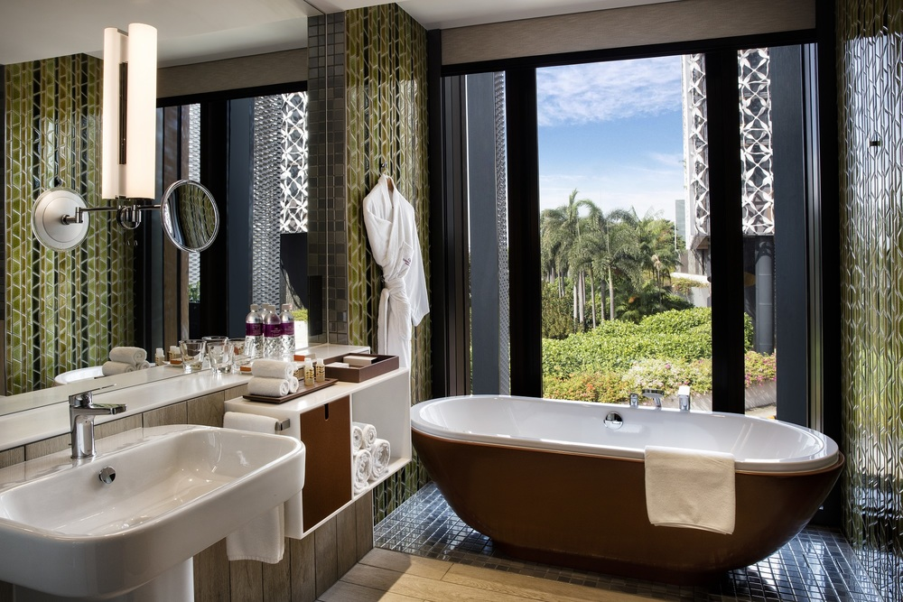 Bathroom of New Business Rooms   | Photo Credit: Crowne Plaza Changi Airport