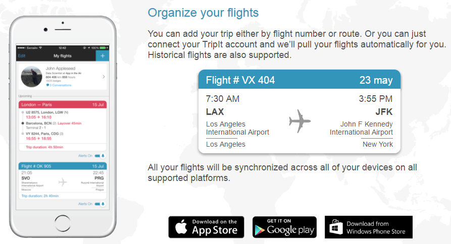 Organise Your Flights with App in the Air