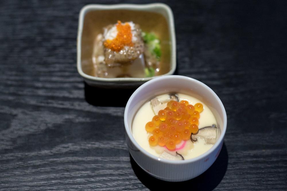 Ikura Chawanmushi and Pitan Tofu    Hokkaido Sushi - M Hotel Singapore
