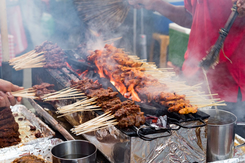 Enjoy Satay at Lau Pa Sat      The Westin Singapore