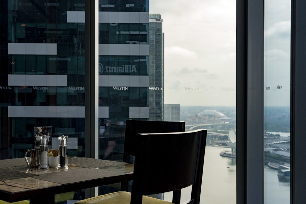 View from Restuarant     Seasonal Tastes - The Westin Singapore