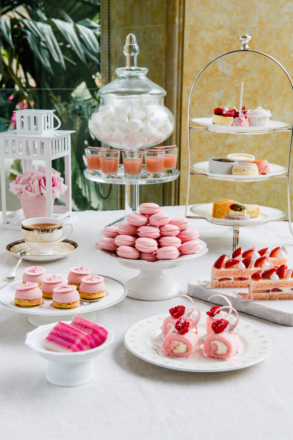 Pink High Tea Buffet at the Rose Veranda | Photo Credit: Shangri-La Hotel, Singapore