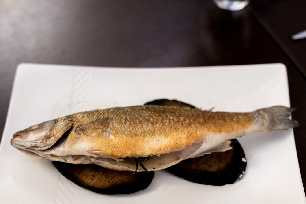 Branzino di'orbetello - Whole Sea Bass roasted on Olive Wood il Cielo - Hilton Singapore