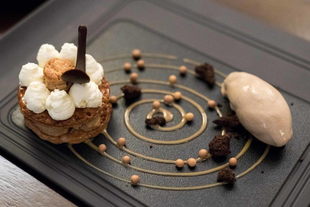 Tiramisu Millefoglie -il Cielo Tiramisu with Cappuccino Gelato  il Cielo - Hilton Singapore