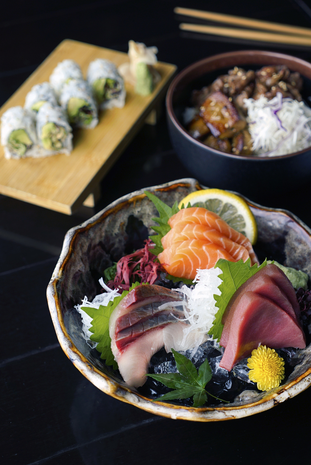 Unlimited Fresh Sashimi at Kinki | Photo Credit: Kinki Restaurant + Bar