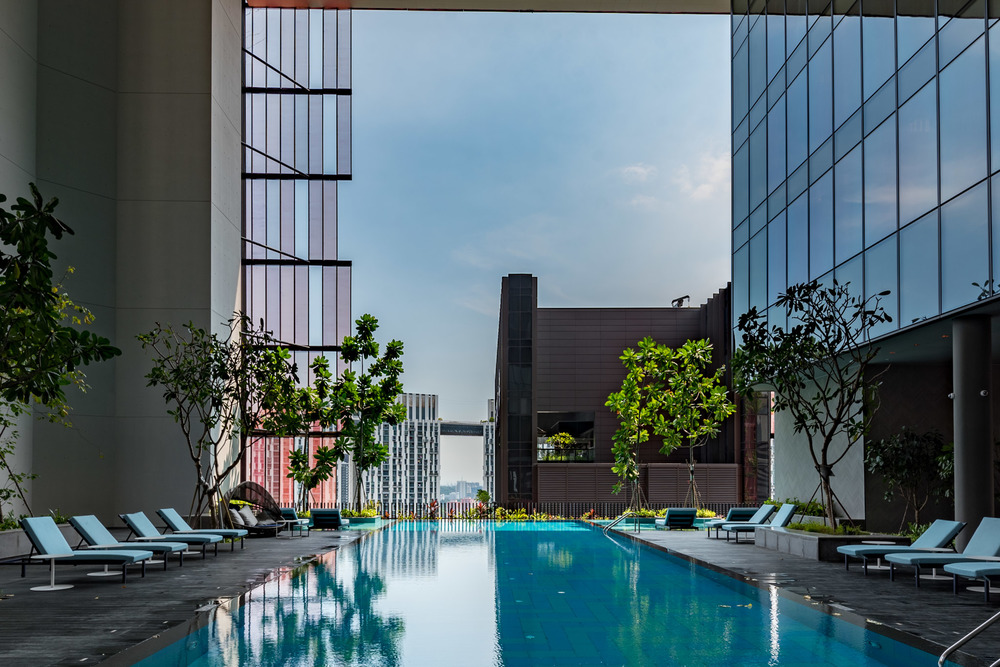 Infinity Pool - Club Floor   Oasia Hotel Downtown Singapore