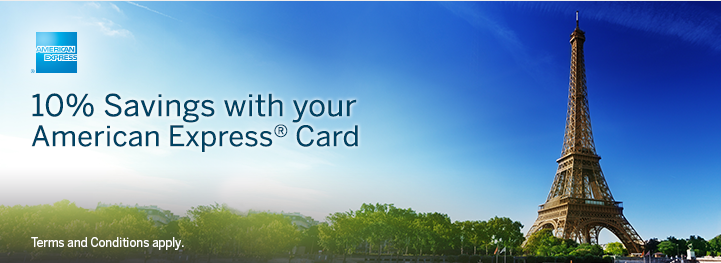 10% off Expedia with American Express
